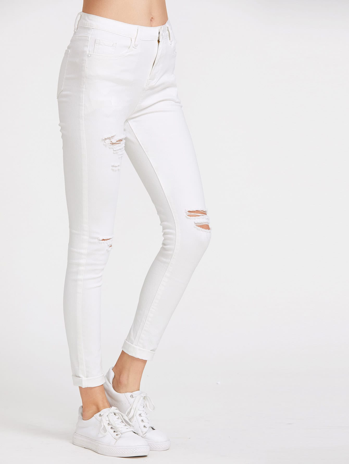 Image of 5 Pocket Ripped Skinny Jeans