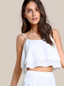 Double Layer Trapeze Cami Top