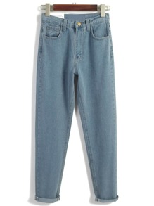 Pantaloni in denim blu