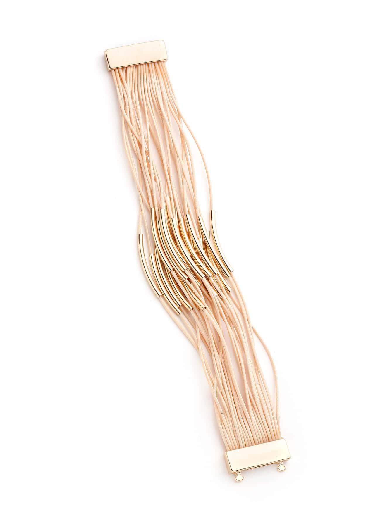 Фото Bar Detail Layered Bracelet. Купить с доставкой