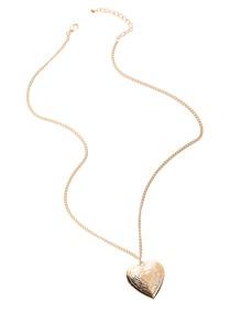 Collier pendentif en forme de cœur