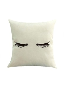 Eyelash Print Basic Pillowcase Cover