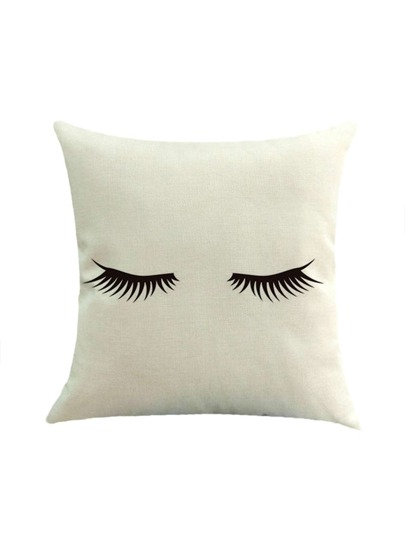 Cute Eyelash Pillow : Eyelash Print Basic Pillowcase Cover -SheIn(Sheinside)