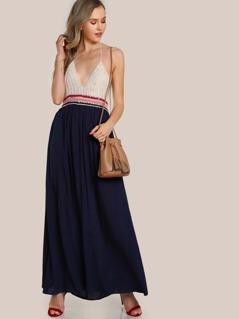 Crochet Triangle Top Dress BLUE