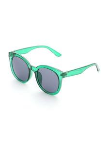 Contrast Frame Flat Lens Sunglasses