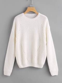 Geo Pattern Hollow Out Jumper