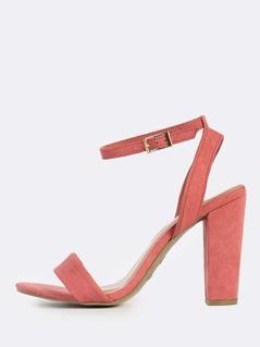 Suede Ankle Strap Heels DARK MAUVE