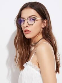 Zwei Tone Frame Clear Lens Brillen
