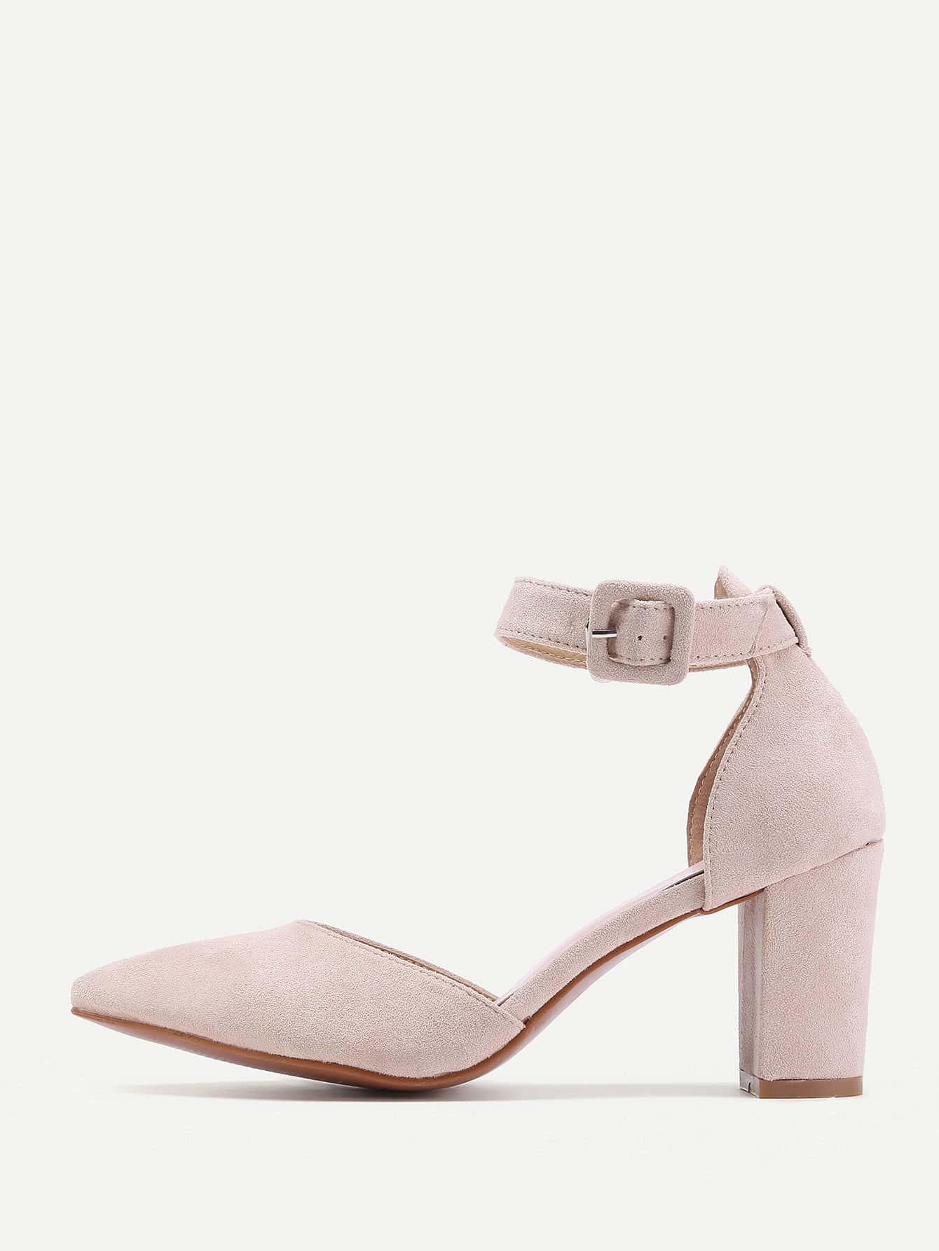 Фото Pointed Toe Ankle Strap Heels. Купить с доставкой