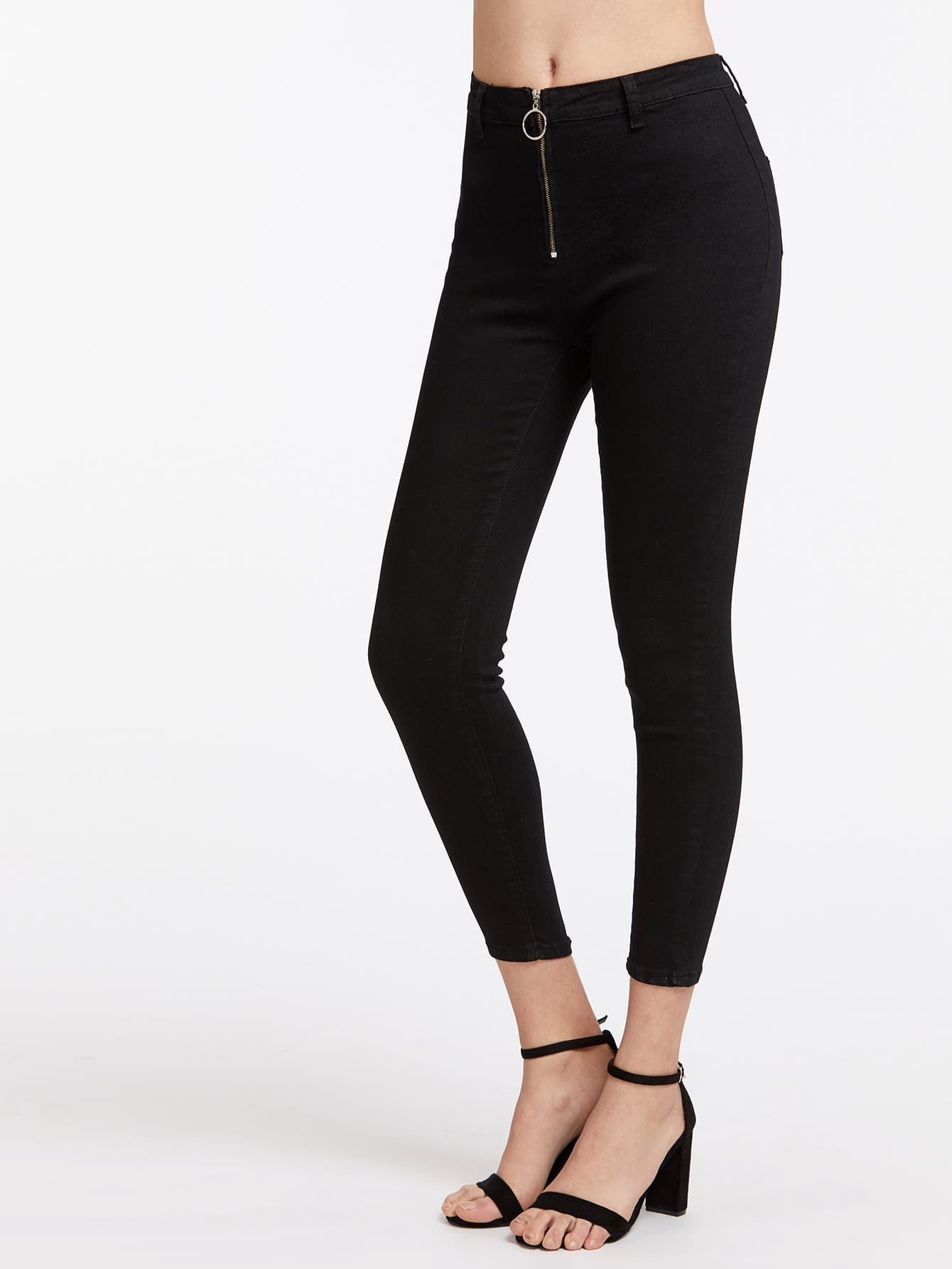 Фото Exposed Zip Front Jeans. Купить с доставкой