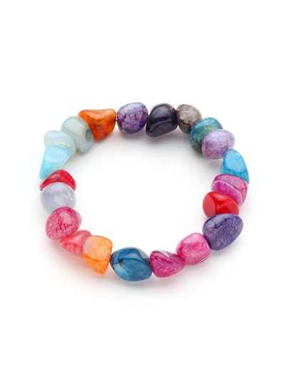Multi Shaped Stone Bracelet