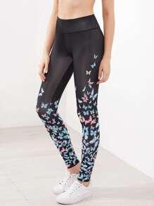 Pantalons imprimé papillon gros