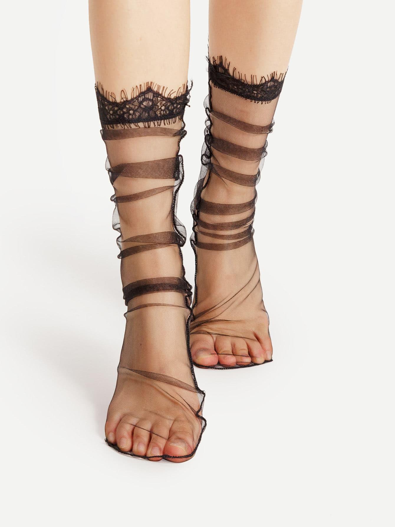 Фото Eyelash Cuff Mesh Socks. Купить с доставкой