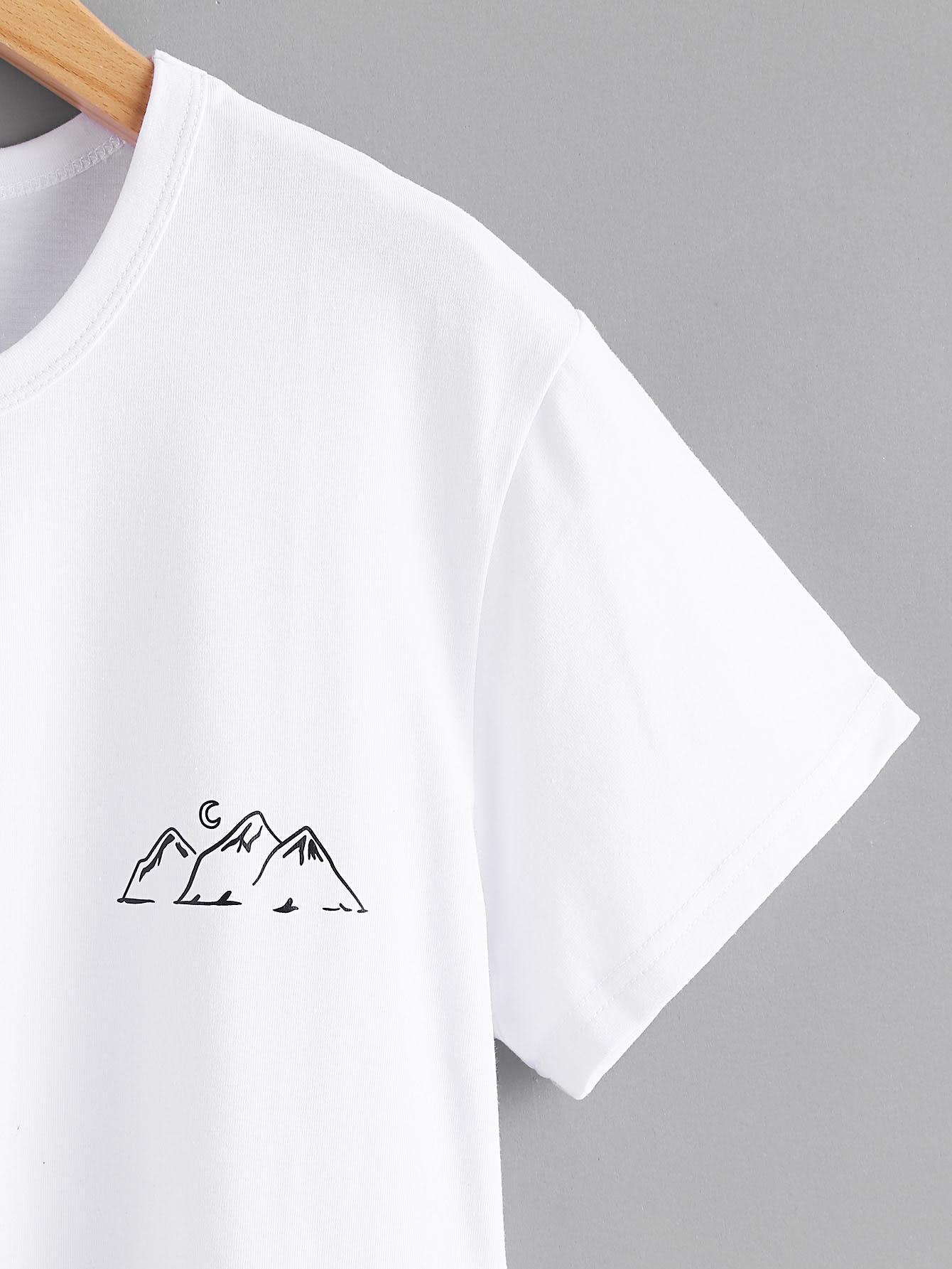 Mountain Print Tee