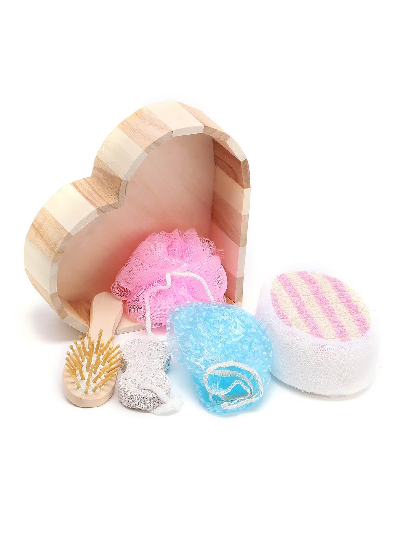 Bath Tool 5pcs With Heart Shaped Box beauty170616303