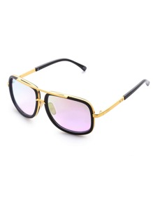 Contrast Top Bar Flash Lens Sunglasses
