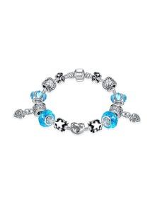 Bracelet contrasté Crystal Charm Heart