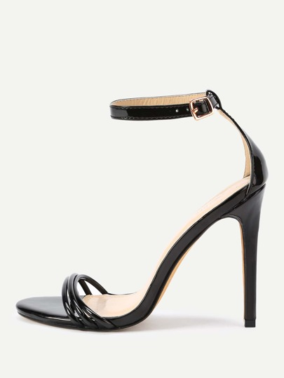 Two Part Stiletto High Heel Sandals
