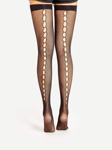 Cutout Back Thigh-High Socks