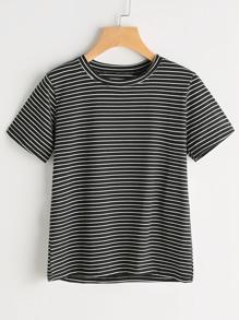 Short Sleeve Pinstripe Tshirt