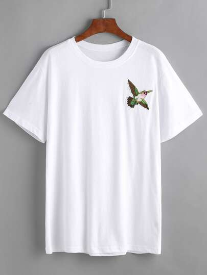 Flying Bird Patch T-shirt
