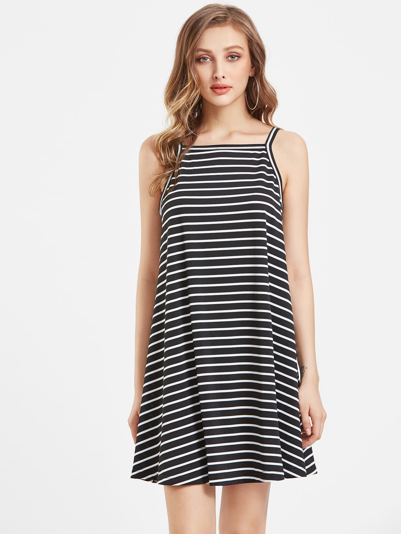 Striped Swing Cami Dress бра lumion filomena цвет белый e14 40 вт 3068 1w