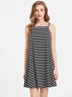 Striped Swing Cami Dress