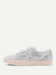 Chaussures de sport à lacets brillantes