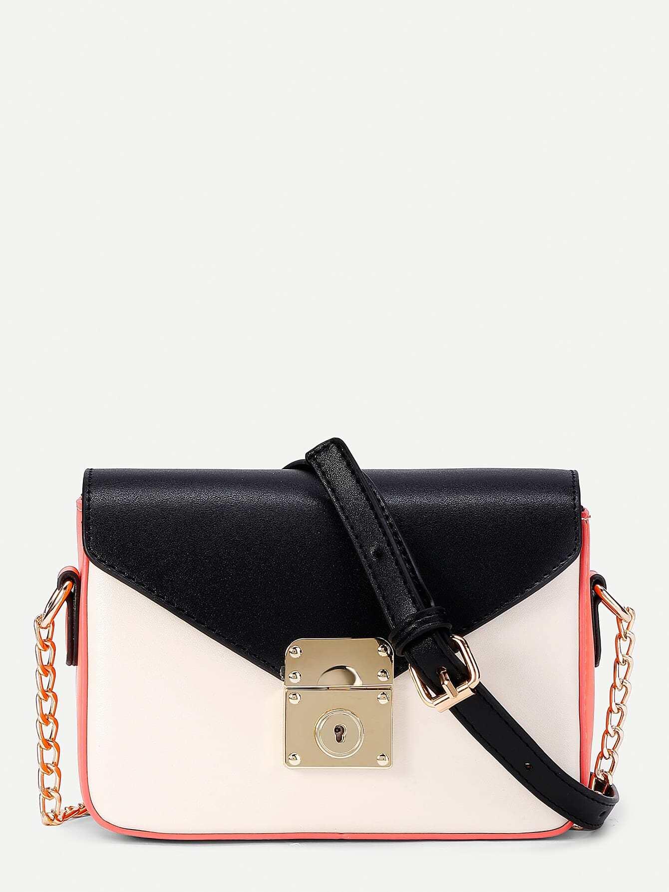 Фото PU Flap Crossbody Chain Bag. Купить с доставкой