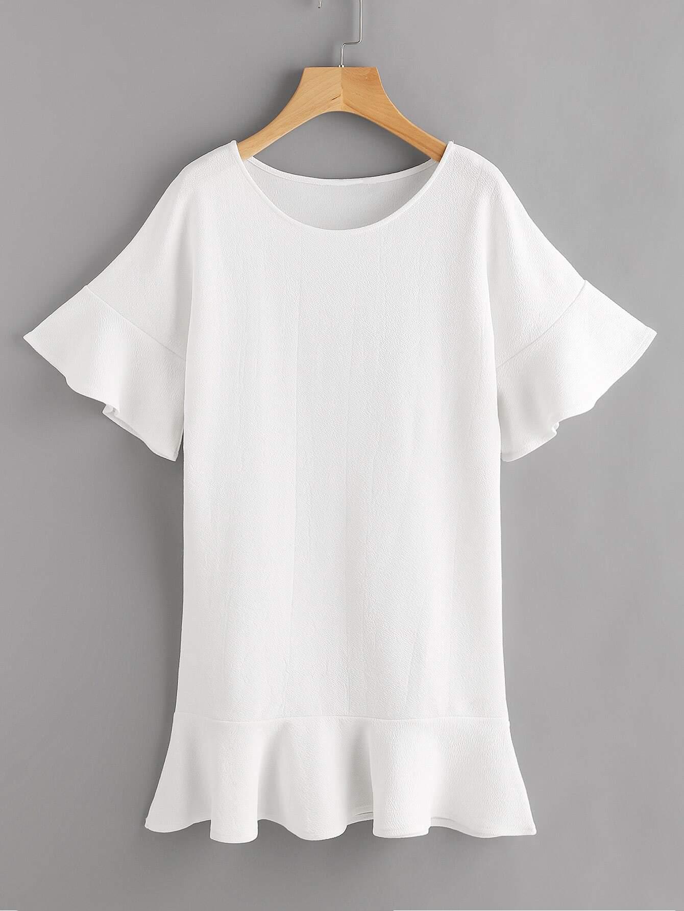 Фото Frill Trim Drop Hem Dress. Купить с доставкой