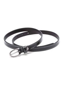 Metal Buckle Skinny Belt