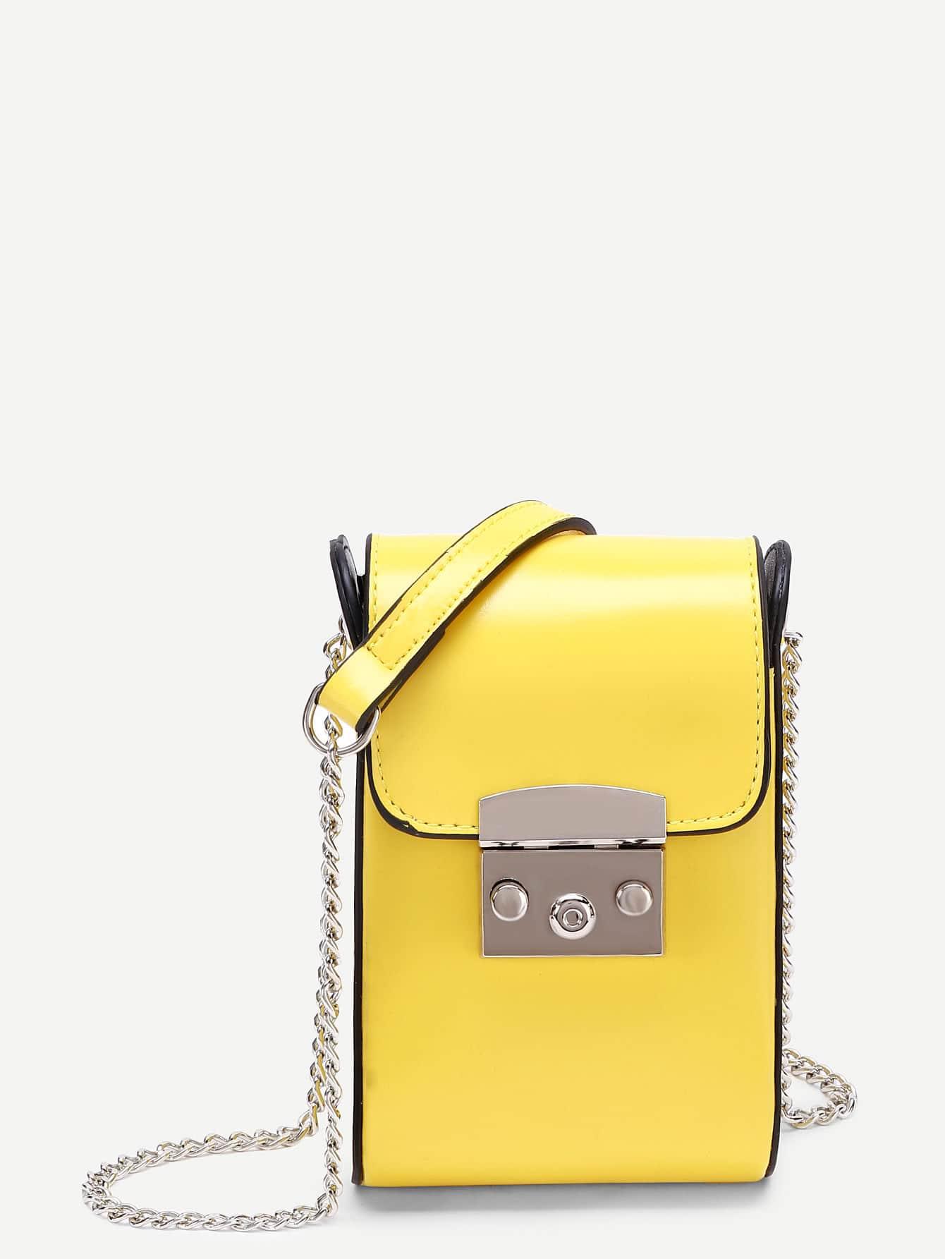 Фото PU Flap Chain Pouch Bag. Купить с доставкой