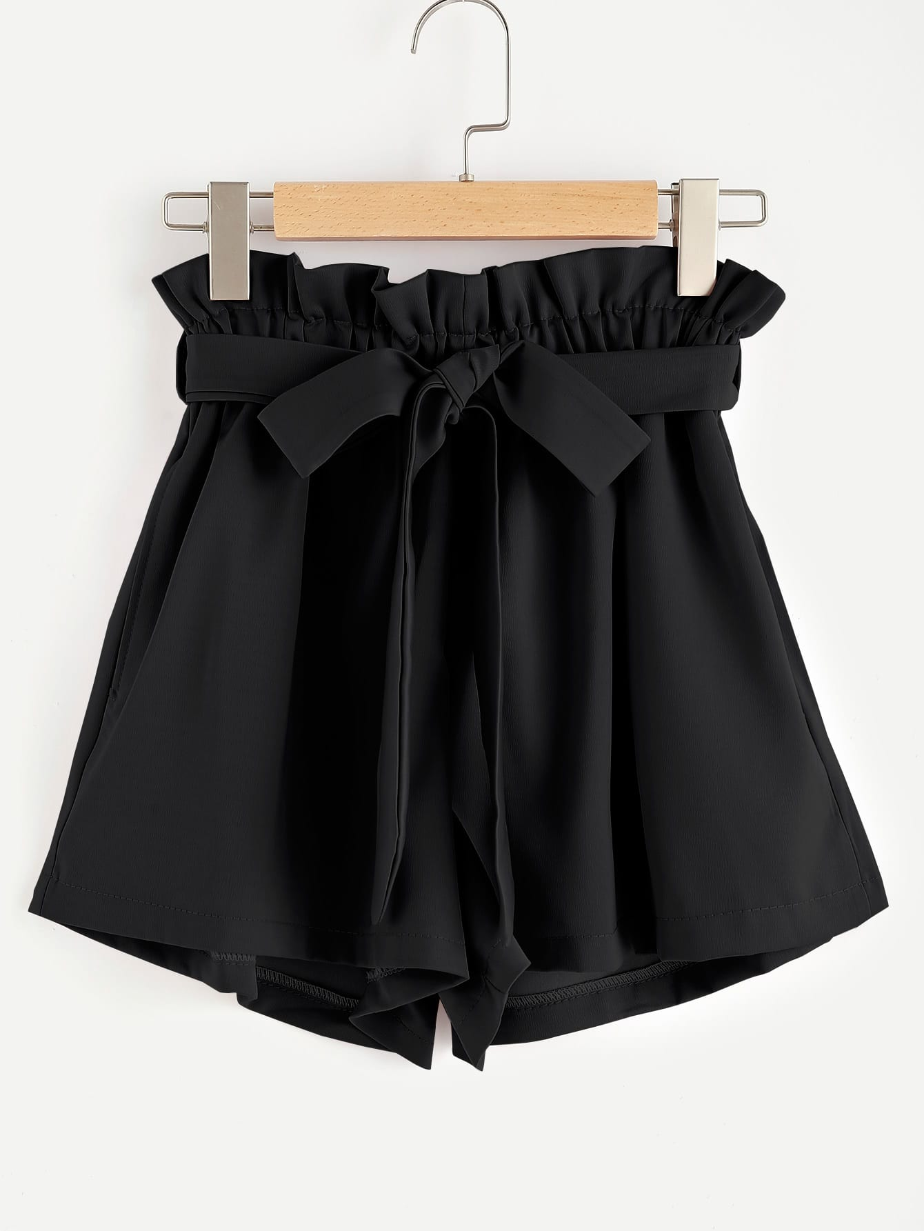 Frill Waist Self Tie Shorts allover florals bow tie detail frill top with shorts