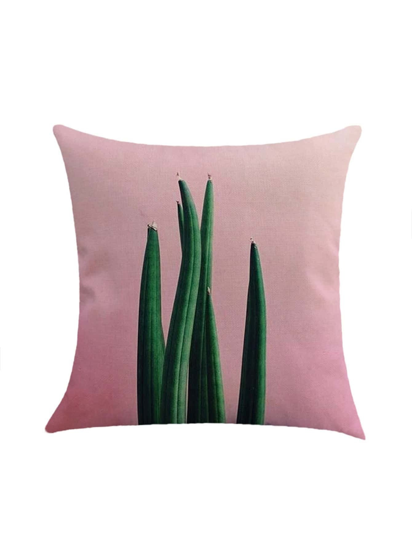 Фото Plant Print Pillowcase Cover. Купить с доставкой
