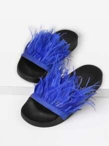 Sandales en cuir faux