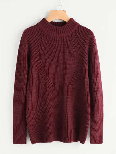 Eyelet Zip Side Jumper