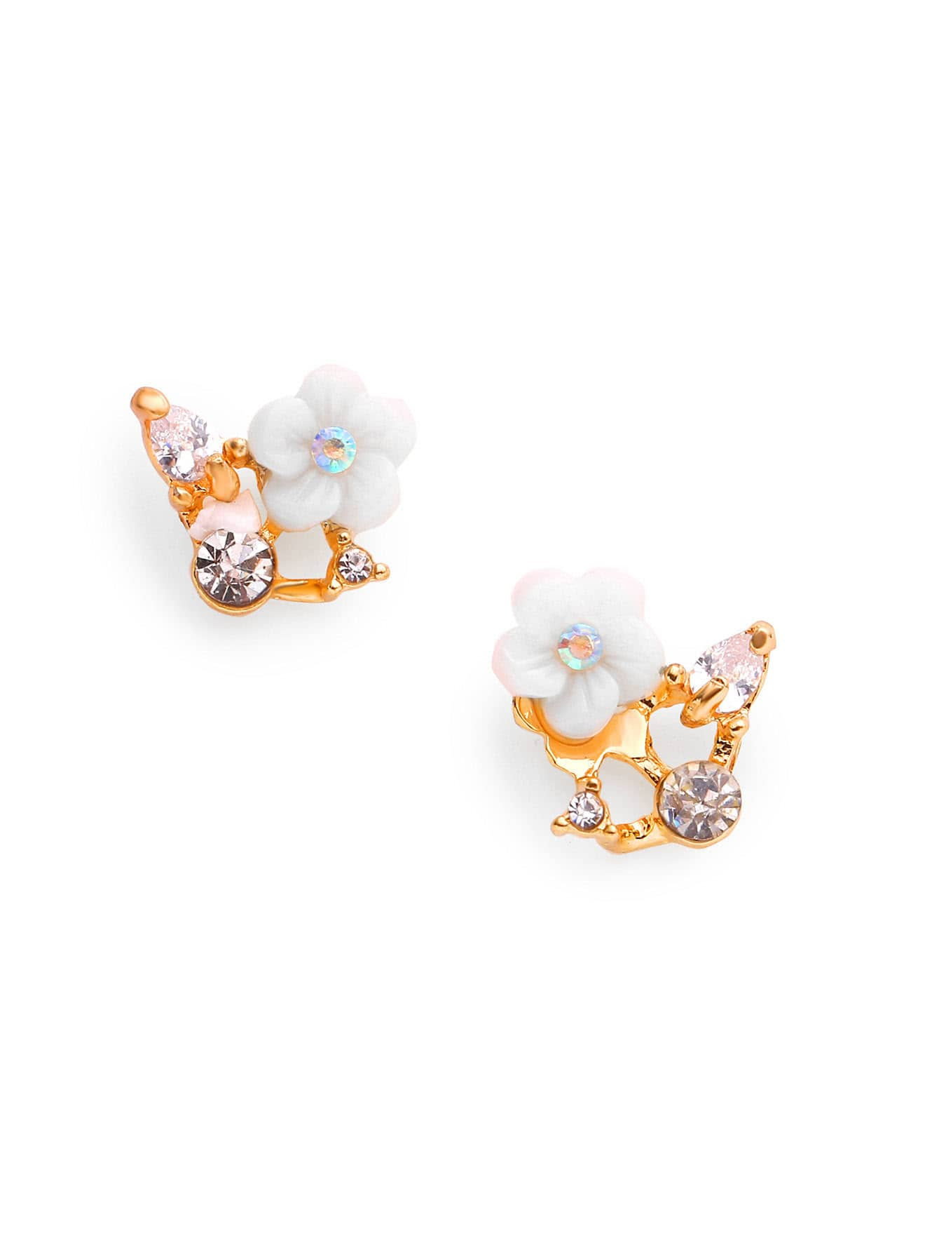 Фото Rhinestone Flower Stud Earrings. Купить с доставкой