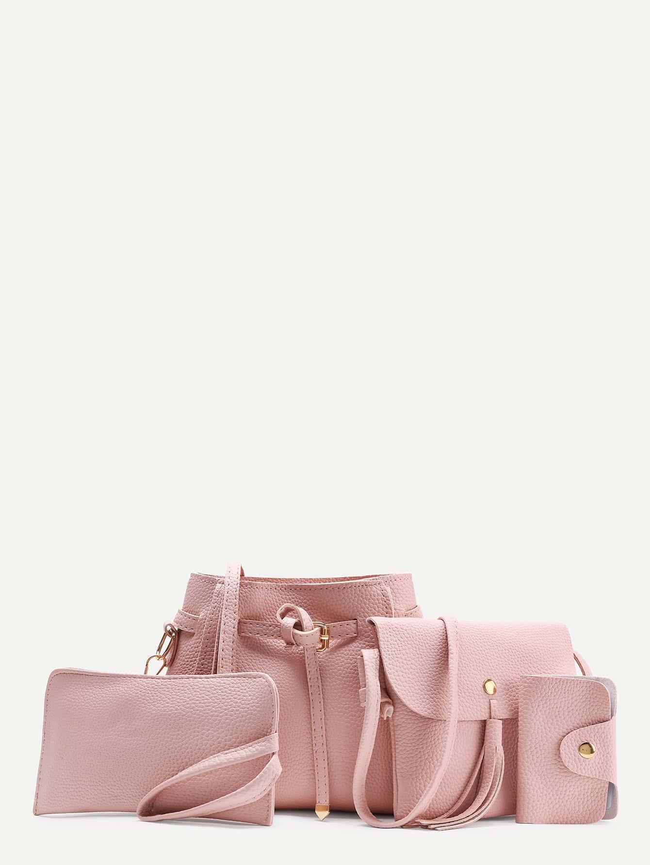 Фото Tassel Detail PU Combination Bag 4pcs. Купить с доставкой