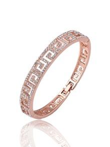 Rhinestone Geometric Design Bracelet