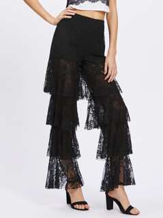 Knicker Insert Layered Lace Pants