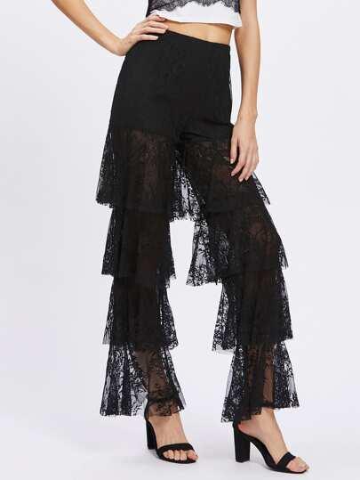 Knicker Insert Layered Lace Pants
