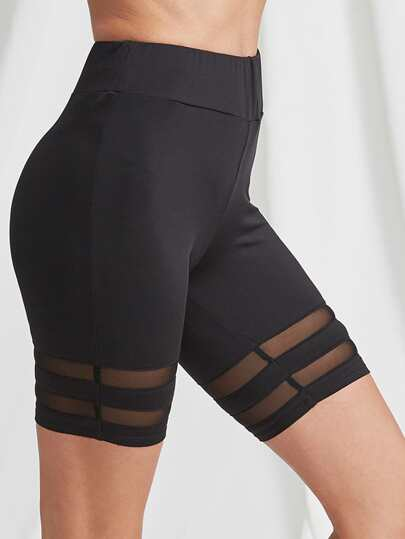 Legging Shorts à rayures