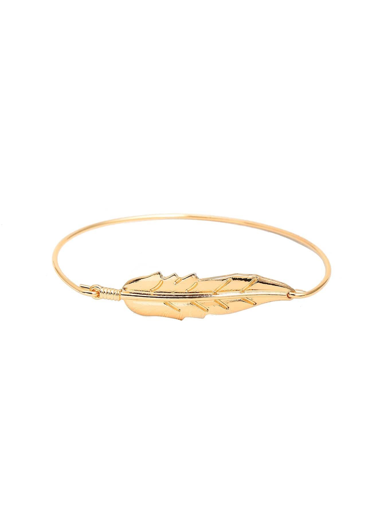 Фото Metal Leaf Design Bracelet. Купить с доставкой