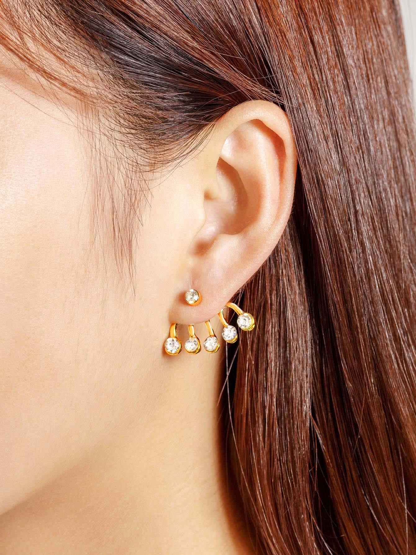Фото Rhinestone Design Ear Cuff 1pcs. Купить с доставкой