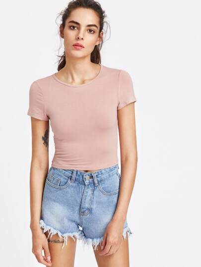 Slim Fit Crop Tee