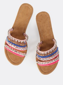 Colorful Diamond Sandal PINK