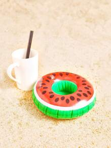 Sostenedor inflable de la bebida en forma de sandía