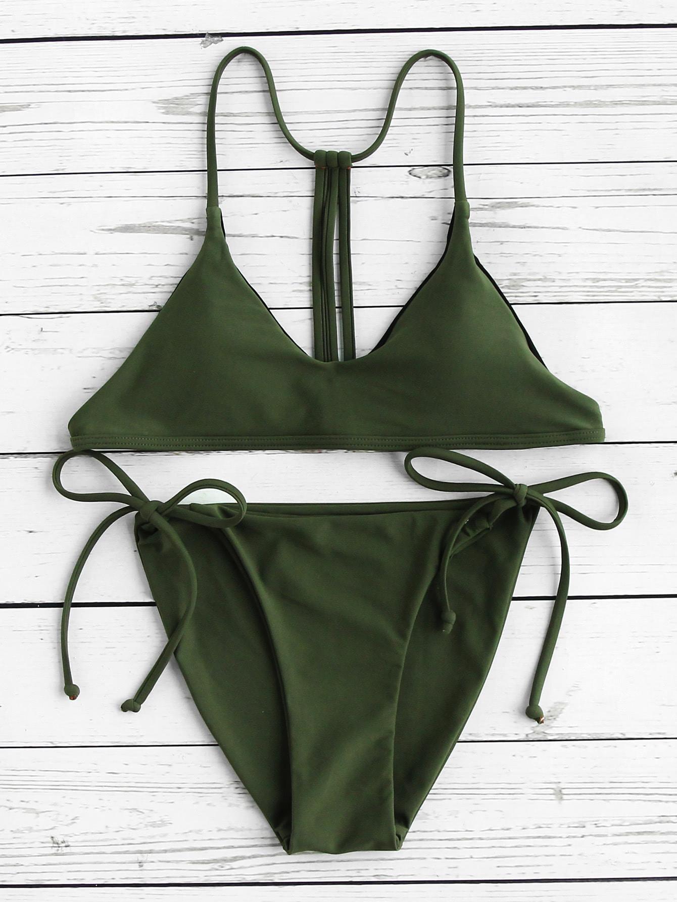Фото Strappy Back Side Tie Bikini Set. Купить с доставкой