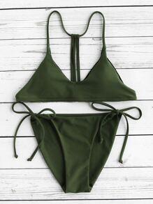 Bikini Set mit Träger und Gürtel auf den Seiten