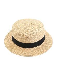 Контрастная соломенная шляпа